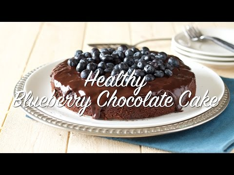 Healthy Blueberry Chocolate Cake (gluten-free, grain-free, dairy-free, Paleo)