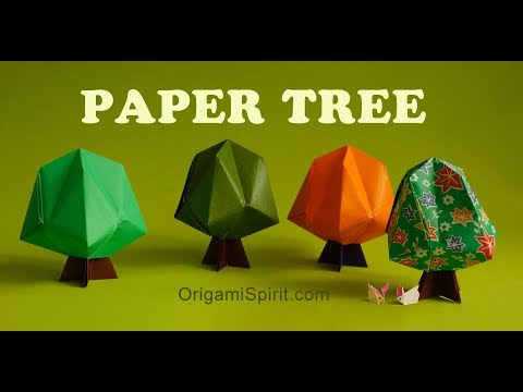 Easy Origami Tree