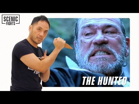 Knife Expert Breaks Down The Hunted Sayoc Kali Knife Scene with Tommy Lee Jones | Scenic Fights