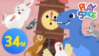 Hickory Dickory Dock ⏰ + More Nursery Rhymes & Kids Songs - Finger Family | Playsongs