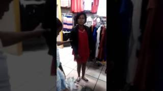 Shoplifter caught in action in South Africa