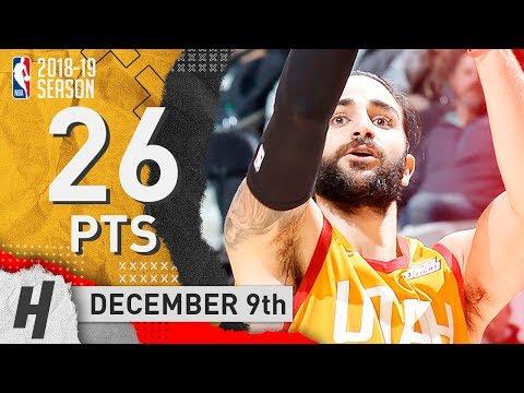 Ricky Rubio Full Highlights Jazz Vs Spurs 2018.12.09 - 26 Pts, 2 Ast, 3 Rebounds!
