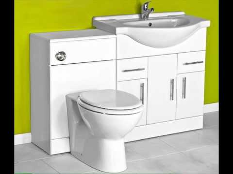 Toilet and sink vanity unit combination uk youtube - Combination bathroom vanity units ...