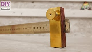 How to make a Ruler Marking Gauge - Purple Heart & Brass - Lineal Anschlag