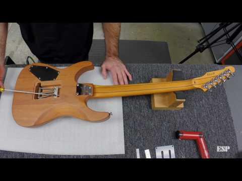 """ESP Guitars: Adjusting Bridge """"Float"""" Angle on a Floyd Rose"""