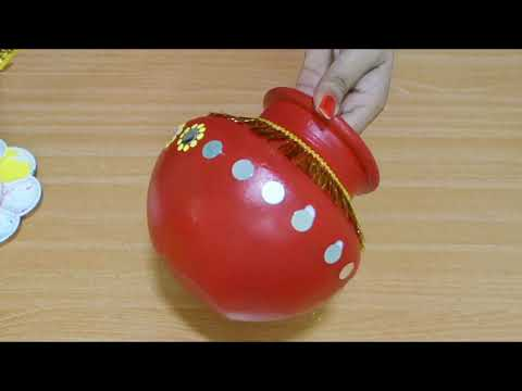 how to decorate kalash for navratri | Pot Decoration | diwali Pot | Karva |
