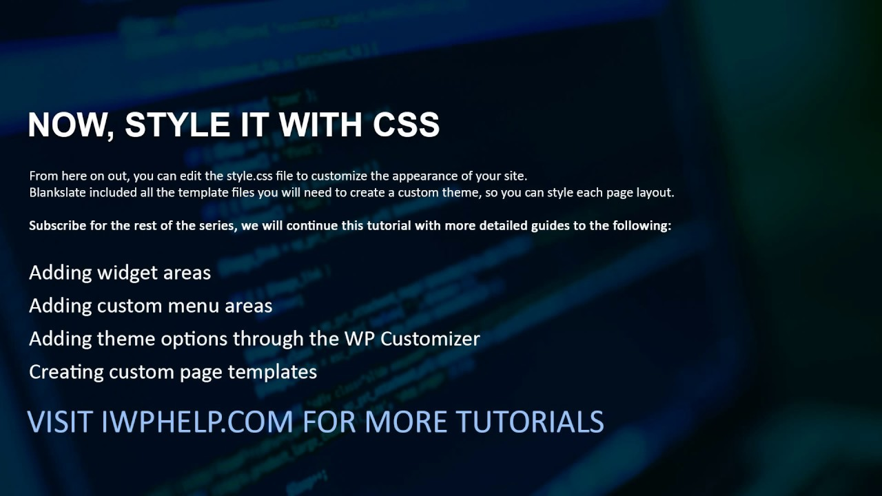 How to Quickly Create a Custom WordPress Theme With Only CSS Skills ...
