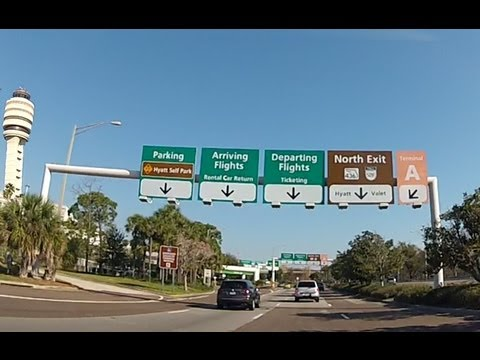 Driving around Orlando International Airport (HD)