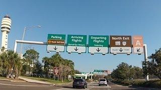 Driving around Orlando International Airport (HD)