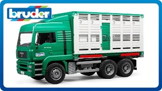 Bruder Toys MAN Cattle Transportation Truck with 1 Cow #02749