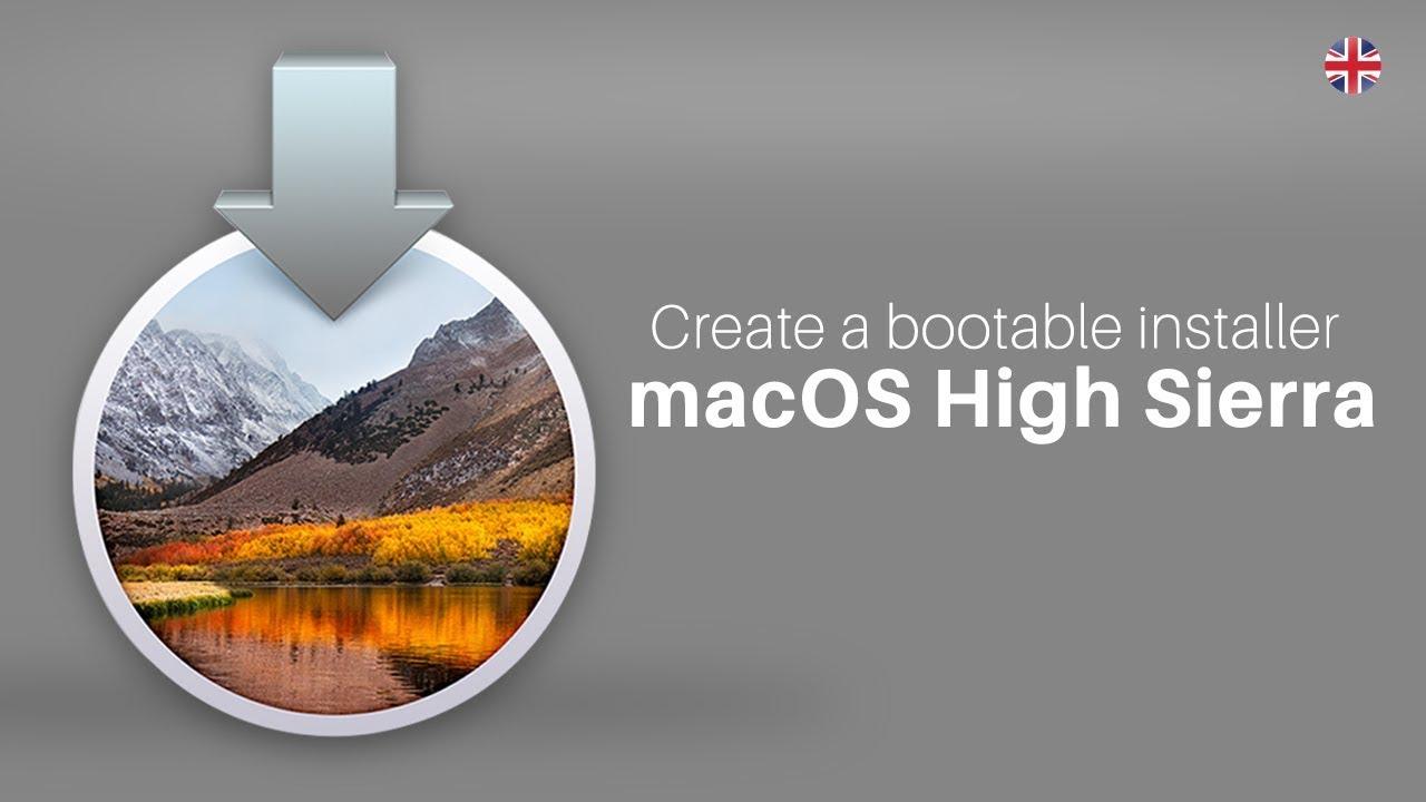 how to create bootable usb mac os high sierra