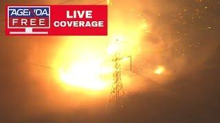Saddleridge Fire Threatening Homes in Sylmar, CA - LIVE BREAKING NEWS COVERAGE