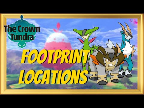 Where to find Footprints for Cobalion, Terrakion, Virizon in Pokémon Sword and Shield Crown Tundra