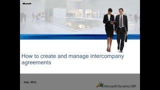 Şirketler arası Anlaşmalar Oluşturmak ve Yönetmek için Microsoft Dynamics AX: