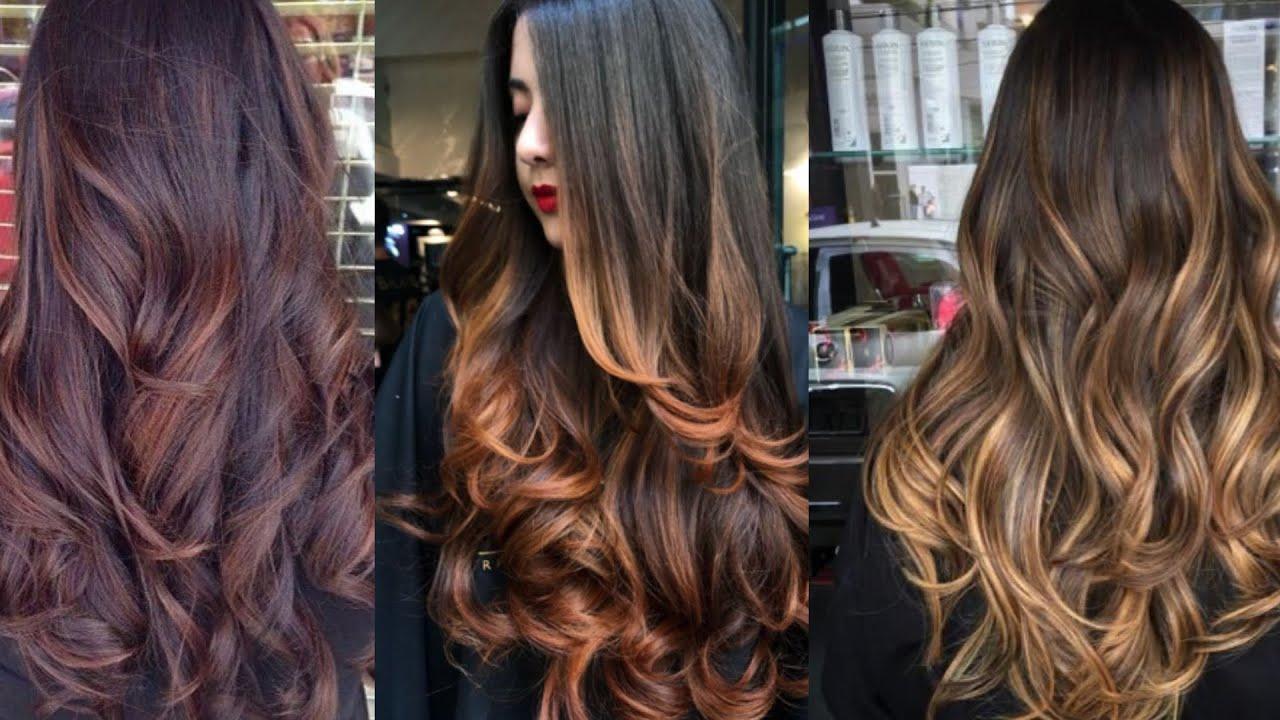 Hair Colour Ideas Indian Skin Tone Hair Highlights Colour Ideas Ombre Hair Highlights Youtube