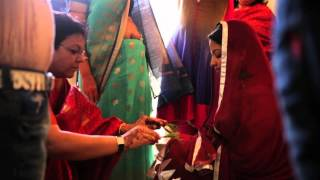 Indian wedding ceremony: TelBaan Haldi with bride #AkRob