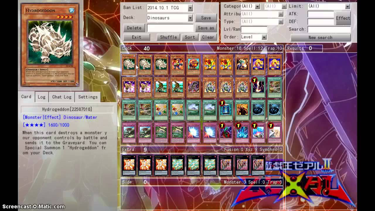 Yugioh deck list dinosaur january 2015 ban list youtube for Best cards for 2015