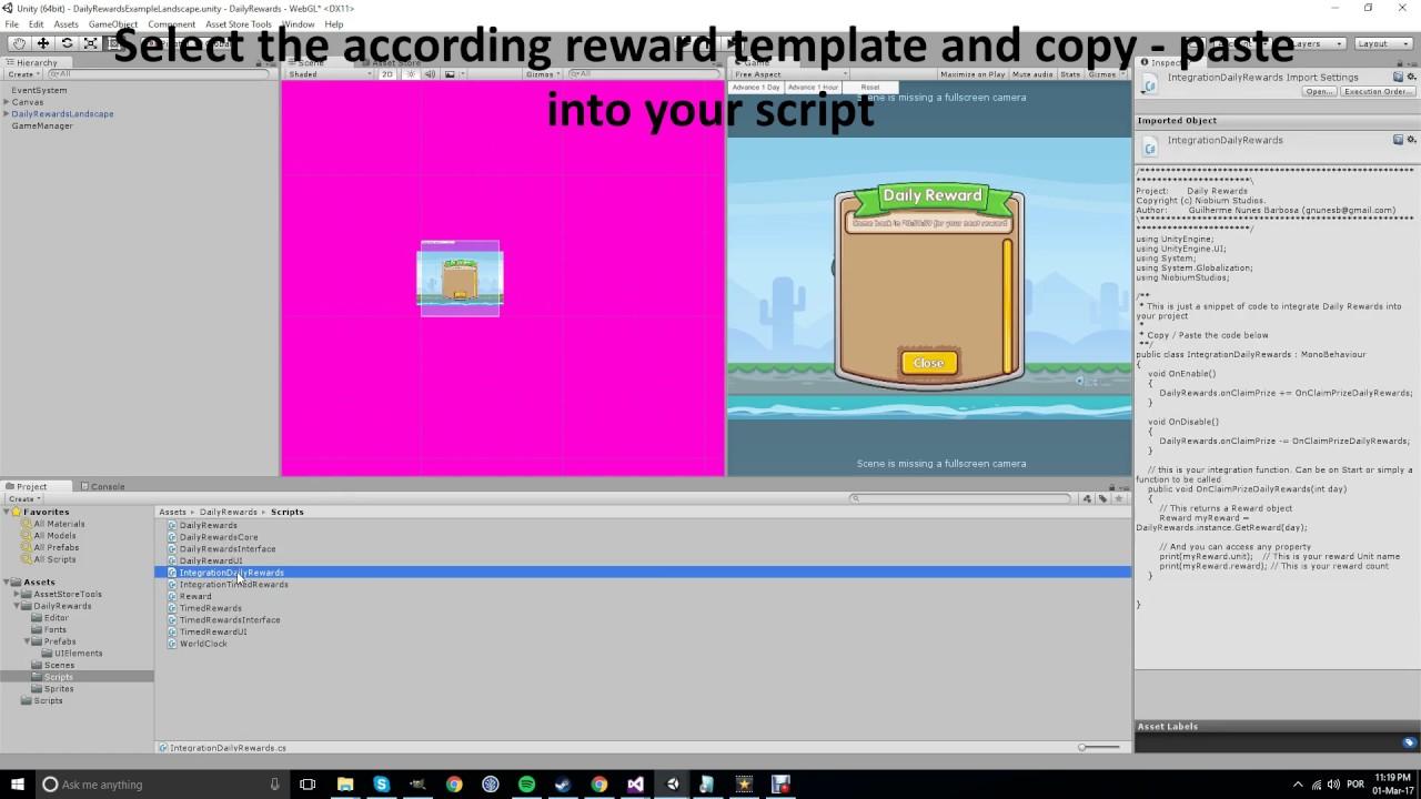 Daily Rewards Setup - how to make a daily reward roblox scripting tutorial