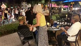 Couple Dining Outside Is Confronted by Protesters