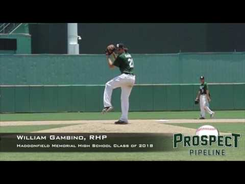 William Gambino, RHP, Haddonfield Memorial High School , Pitching Mechanics at 200 FPS