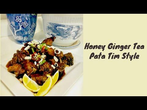 Honey ginger tea pata tim style
