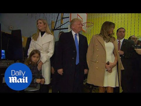 The Trump family votes in Manhattan on Tuesday morning - Daily Mail
