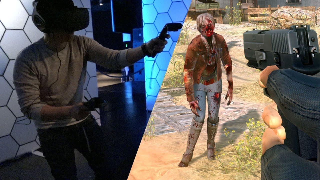 Hands On VR Zombie Shooting In Arizona Sunshine YouTube