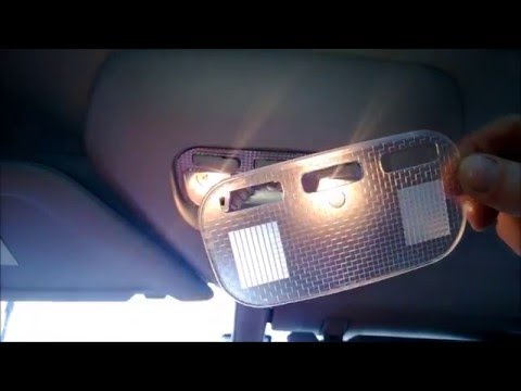 How to Change Replacement INTERIOR Bulbs on LED. Citroen C4 Grand Picasso. Подсветка Салона