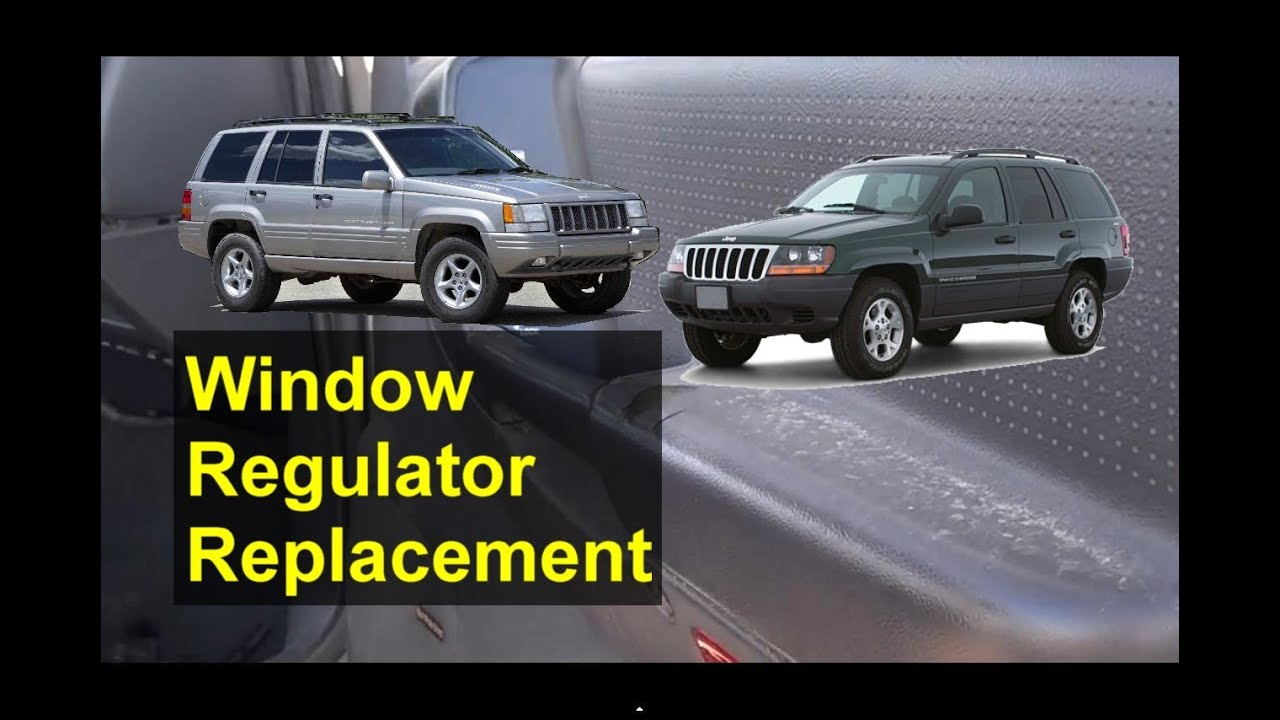 Window regulator and motor removal replacement jeep for Motor vehicle glass replacement