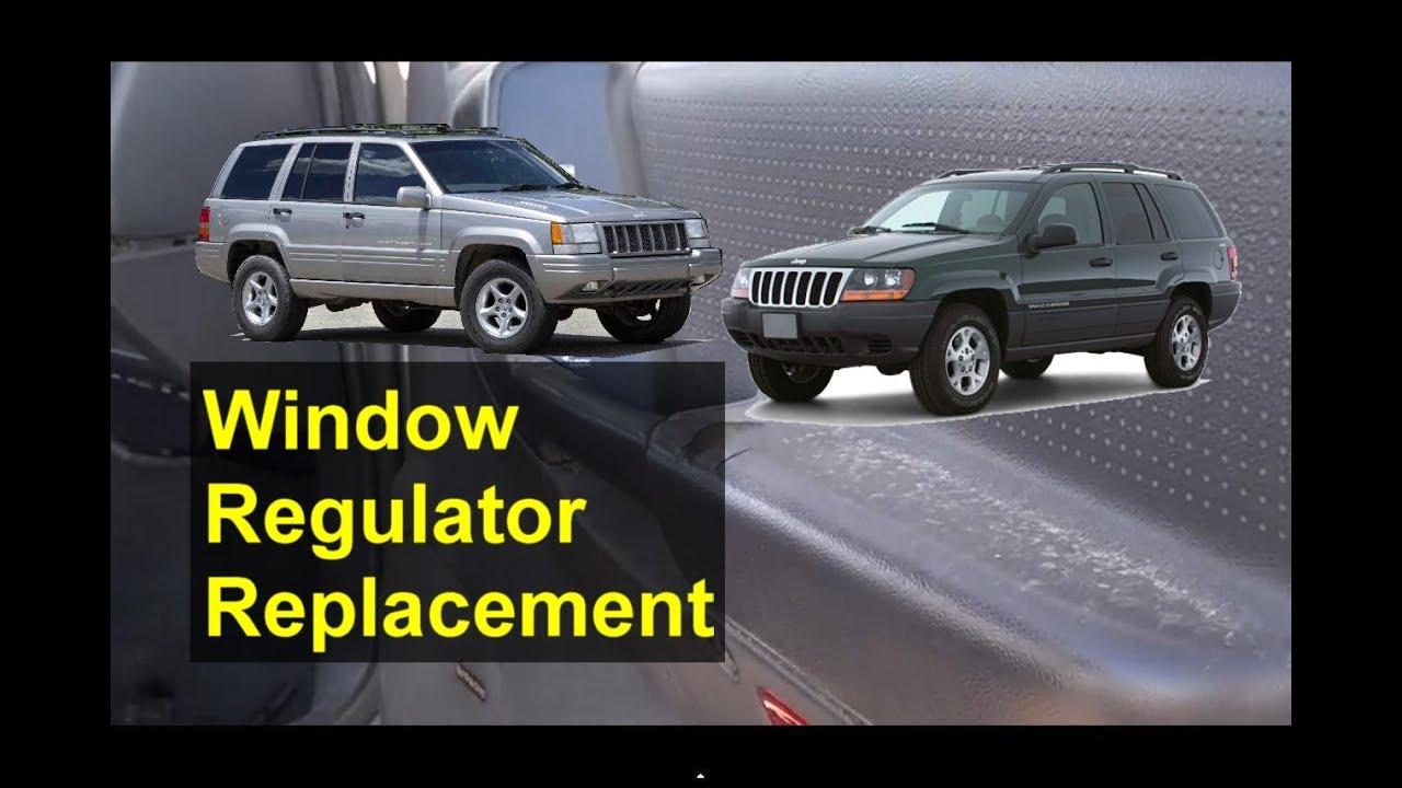 medium resolution of window regulator and motor removal replacement jeep grand cherokee auto repair series youtube