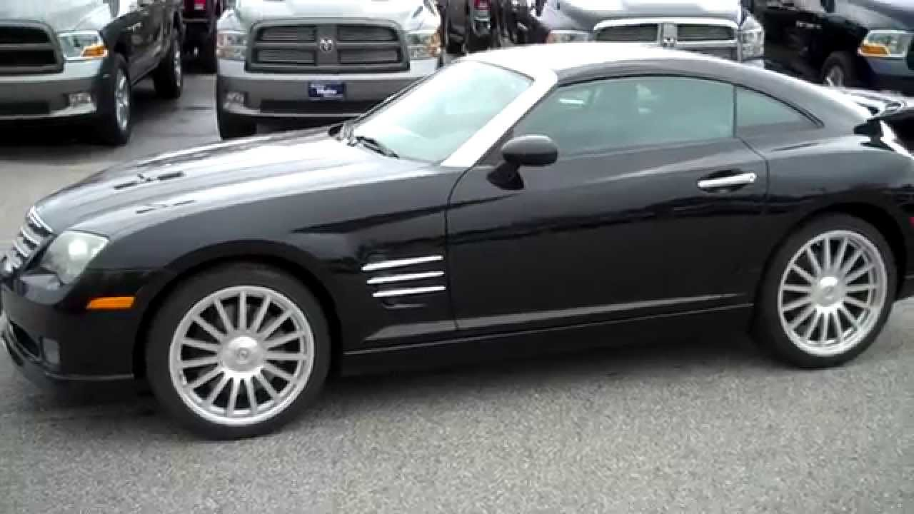 chrysler crossfire srt6 black. used car dealers in maine 2005 chrysler crossfire srt6 coupe southern motors saco youtube srt6 black