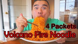 VOLCANO FIRE NOODLE CHALLENGE