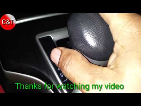 How to use Gears positions on steering wheel TOYOTA FOR TUNE