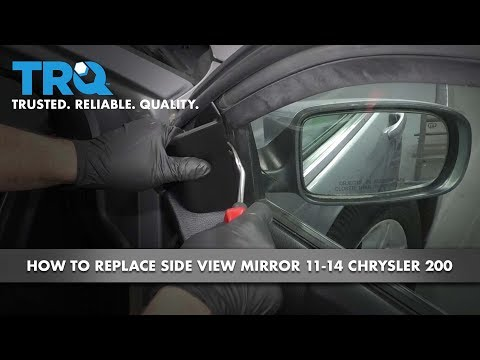 How to Replace Passenger Side View Mirror 11-14 Chrysler 200