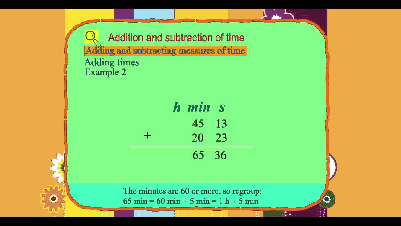 worksheet Time Subtraction explore math class 4 unit 11 03 addition and subtraction of time time