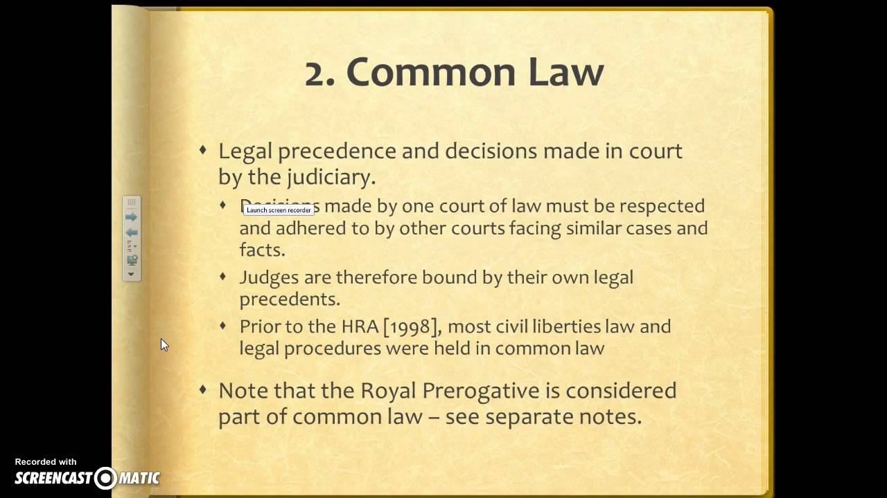 Sources of the british constitution