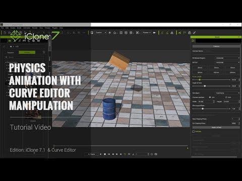 iClone 7.1 Tutorial - Curve Editor: Physics Animation with Curve Editor Manipulation