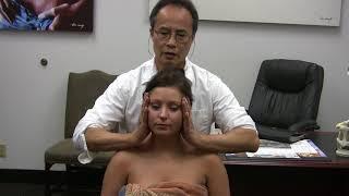 Neck and shoulder massage demo, part 1.