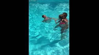 sunday funday pool fun june 26 2016 girls learning to swim with no floaties