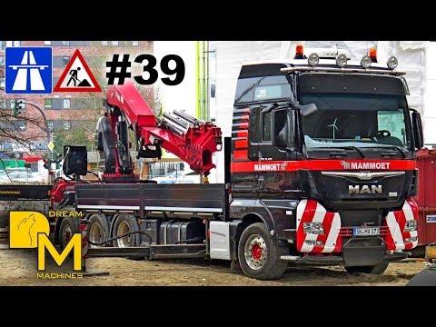 MAMMOET + LIEBHERR LTM 1500 # MEGA AUTOBAHN BAUSTELLE DOKU #33 BRÜCKENBAU