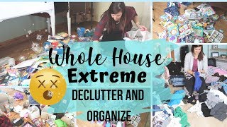 EXTREME DECLUTTER AND ORGANIZE 2019 | MOTIVATIONAL WHOLE HOUSE DECLUTTER AND PURGE | TIMELAPSE