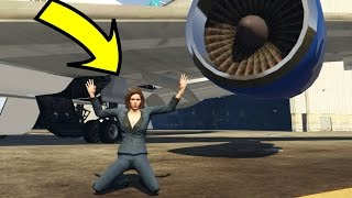 CAN WE SAVE MOLLY FROM THE PLANE ENGINE IN GTA 5? (Playing As MOLLY!)