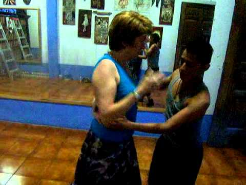 Janet at Antigua Salsa Lesson July 2012