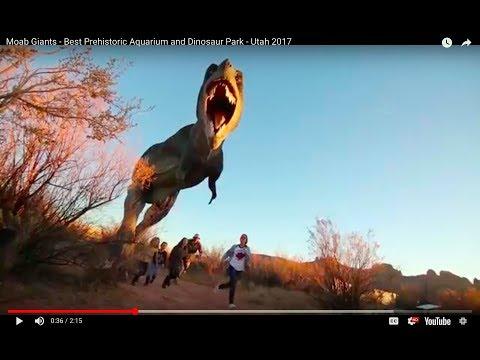 Moab Giants - Best Prehistoric Aquarium and Dinosaur Park - Utah 2017