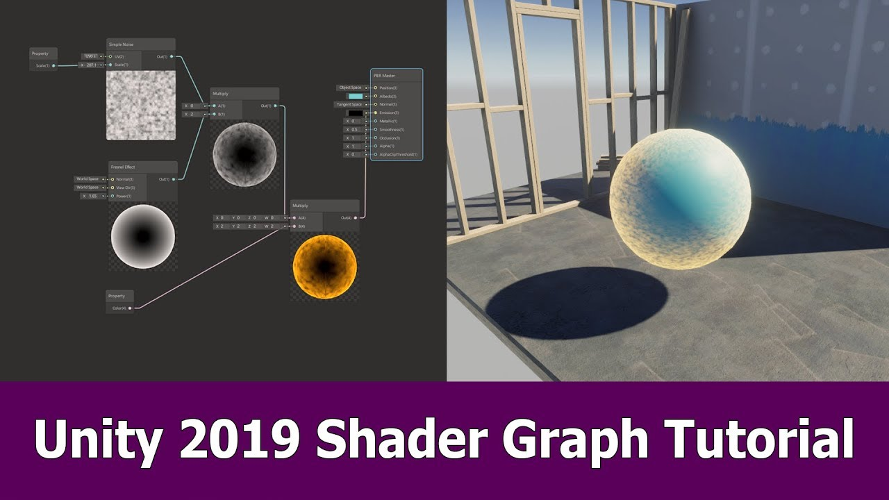 Unity 2019 Shader Graph Tutorial : Getting Started | JayAnAm