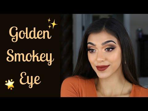 Golden Smokey Eye Makeup Tutorial | Chelseasmakeup