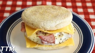 Ham and Egg Sandwich with Cheese in the Toaster Oven
