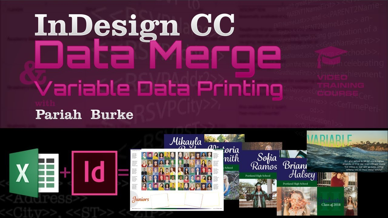 InDesign CC Data Merge and Variable Data Printing [Trailer]