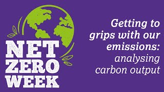 Click here to play the Getting to grips with our emissions: analysing carbon output video