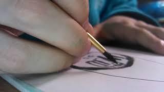 Рисование картинки красками. Постепенное рисование. Урок 1